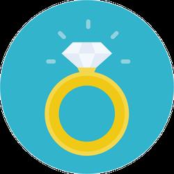 Gold Diamond Ring Sticker