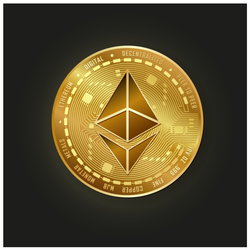 Gold Ethereum Crypto Sticker