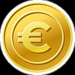 Gold Euro Sticker