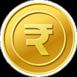 Gold Indian Rupee Sticker