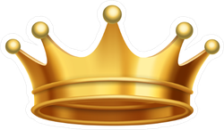 Gold King Crown Sticker
