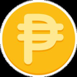 Gold Philippine Peso Sticker