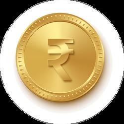 Gold Rupee Sticker