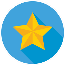 Gold Star and Shadow Sticker