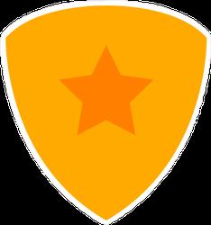 Gold Star Shield Sticker