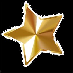Gold Star Vector Sticker