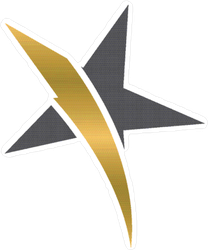 Gold Stripe Star Sticker
