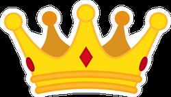 Golden Crown Cartoon Icon Sticker