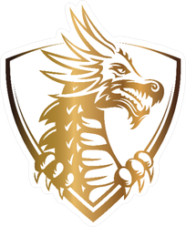 Golden Dragon Head Sticker
