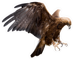 Golden Eagle With Spread Wings Sticker