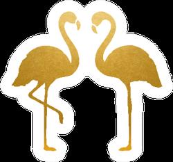 Golden Flamingos Sticker
