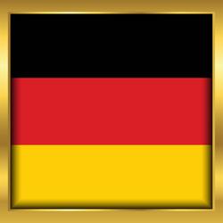 Golden Frame Germany Flag Square Sticker