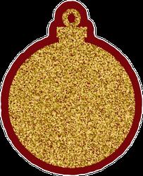 Golden Glitter Christmas Element Ball Sticker