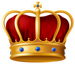 Golden Imperial Crown Sticker