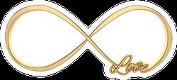 Golden Infinity Love, Forever Symbol Sticker