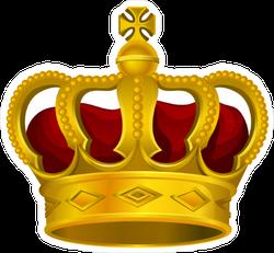 Golden Monarch Crown With Red Velvet Sticker