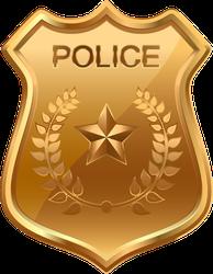 Golden Police Badge Sticker