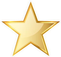 Golden Star Icon Sticker