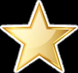 Golden Star Icon Sticker