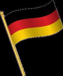 Golden Waving Flag Of Germany Sticker