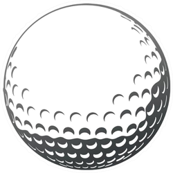 Golf Ball Close-up Sticker