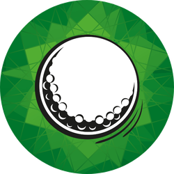 Golf Ball On Green Sticker