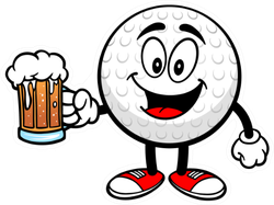 Golf Ball With Beer Sticker