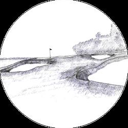 Golf Course Design Sketch Sticker