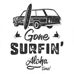 Gone Surfin' Aloha Time Sticker