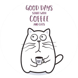 Good Days Start With Coffee And Cats Sticker