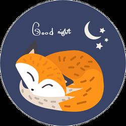Good Night Fox Sticker