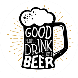 Good People Drink Good Beer Sticker