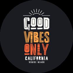 Good Vibes Only. California, Venice Beach Sticker