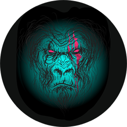 Gorilla Burned Evil Scar Print Sticker