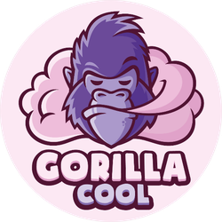 Gorilla Cool Purple Sticker