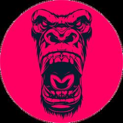 Gorilla Graphic Design Pink Sticker