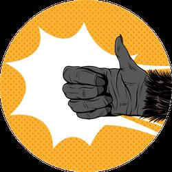 Gorilla Hand Shows Thumbs Up Sticker