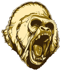 Gorilla Illustration Sticker