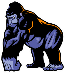 Gorilla Mascot Sticker