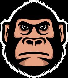 Gorilla Monkey Head Sports Mascot Sticker