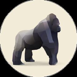 Gorilla, Polygonal Geometric Sticker