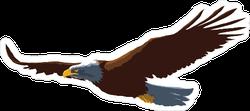 Graceful Flying Eagle Sticker