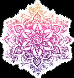 Gradient Boho Mandala Sticker