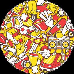 Graffiti Seamless Skateboard Lifestyle Sticker