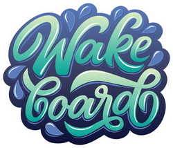 Graffiti Style Wake Board Sticker