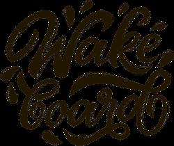 Graffiti Wakeboard Text Sticker