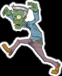 Grandpa Cartoon Zombie Sticker