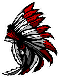 Graphic Native American Indian Chief Headdress Sticker