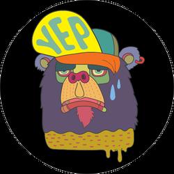 Graphic Skate Bear Sticker