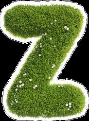 Grass Font Letter Z Sticker